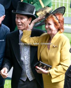 Sir Cliff Richard and Cilla Black on the final day of Royal Ascot.