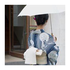 暑い一日ですね . #着物屋くるり #浴衣 #日傘 #tokyo #summer