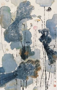 陈家泠 Chen Jialing (1937-) Lotus Kunst, Lotus Art, Ink Painting, Painting Prints, Abstract Watercolor, Abstract Art, Art Chinois, China Art, Zen Art