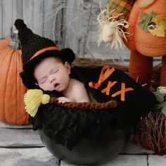 Baby Costume Hand Made Halloween Witch