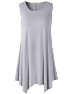 Featurestop Tank Tops for Women Loose Casual Workout Trim Tunic Vest