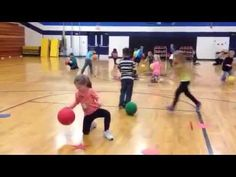 Carly's PE Games: Basketball Lessons for K-5th grade with Minute Club Warm-Up and St. Patricks Day Game  Great idea to help students gain control of a ball which helps with eye hand coordination which will also help with catching and throwing.