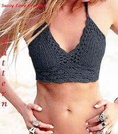 Crochet Black Bathing suit Pattern Brazilian von SassyloveCrochet