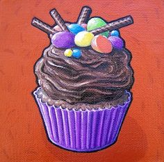 I love Scott's cupcakes! He did 365 different cupcake paintings and they are all awesome. Satisfy your craving by checking out his artwork :) Cupcake Painting, Cupcake Art, Cupcake Cakes, Cupcake Illustration, Cupcake Collection, Teaching Colors, Cupcakes, Pastry Art, Color Theory