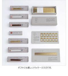ギフトにも嬉しいパッケージ入りです Simple Packaging, Brand Packaging, Packaging Design, Pen Design, Graphic Design, Classic Branding, Miscellaneous Goods, Fabric Display, Bookbinding
