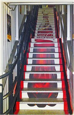 Captivating Stair Risers...not A Fan Of The Come Bottle Mural But I Like Nice Design