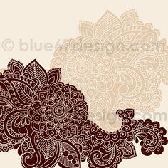 Mehndi Henna Tattoo Paisley Doodles Illustration by blue67design by blue67design, via Flickr