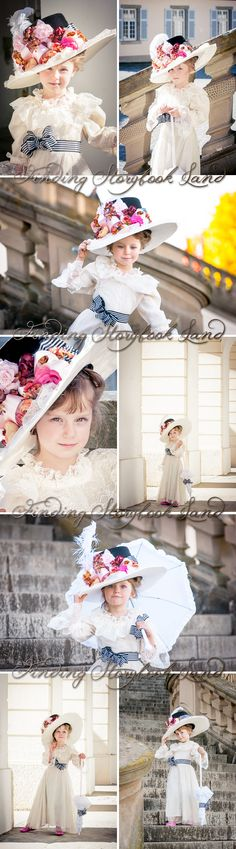 A basic guide on how to do a My Fair Lady themed children's photo session with costume, prop, and location ideas and tutorials from findingstorybookland.com Photography Ideas