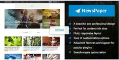 NewsPaper Theme Review, Elegant WordPress Theme for Professional Blog