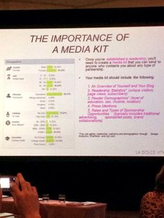 Media Kit a Must for bloggers  La Dolce Vita at Design Bloggers Conference shared by The English Room #dbc2014