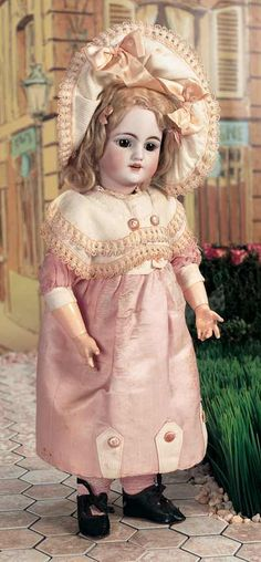 German Bisque Child,1249,by Simon & Halbig with Factory Original costume