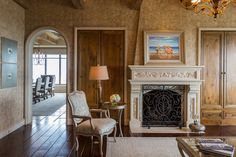 This fireplace sits in the living room of a Houston condo once owned by Kenneth Lay, the former chairman of Enron. Read more: http://snip.ly/V1rd