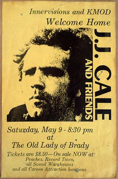1987 J. J. Cale Tulsa Concert Poster