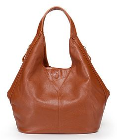 This Brown Zelda Leather Hobo by Foley & Agamo is perfect! #zulilyfinds
