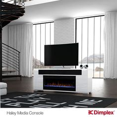 Fireplace Media Console, Media Electric Fireplace, Fireplace Tv Wall, Electric Fireplaces, Media Consoles, Contemporary, Products, Home Decor, Decoration Home