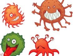 Микробы, бактерии — Yandex.Disk Yoshi, School, Fictional Characters, Art, Art Background, Kunst, Fantasy Characters, Art Education