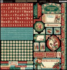 A Christmas Carol cardstock stickers. This new collection will be in stores in late August 2015 #graphic45 #sneakpeeks