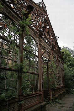 RECLAIMED STRUCTURES - nature, taking back the landscape, derelict structures, abandoned buildings, overgrown. Abandoned Buildings, Abandoned Mansions, Old Buildings, Abandoned Places, Abandoned Castles, Haunted Places, Beautiful Buildings, Beautiful Places, Beautiful Pictures