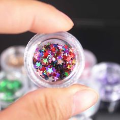 1 Box Shiny Round Ultrathin Sequins Colorful Nail Art Glitter Tips UV Gel Nail Decoration Manicure DIY Accessories 2017 new Maquillaje Kylie Jenner, Colorful Nail Art, Diy Manicure, Glitter Nail Art, Nail Decorations, 3d Nails, Diy Accessories, Uv Gel, Sprinkles