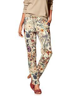 B.C.-Best-Connections-Pantalon-fluide-tendance-a-imprime-floral,-coupe-droite