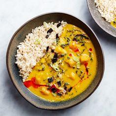 Miso-Tahini Squash Soup With Brown Rice