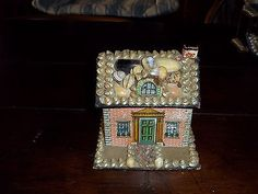 Antique Victorian Shell Art Sailor's Sailors Valentine House Trinket Box