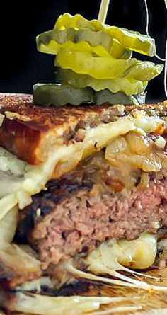 Patty Melt with Bacon and Caramelized Onions ~ So freakin' good!
