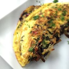This is a keeper! Rainbow chard and caramelized onion omelette. I used parsley, onions, chard from our CSA box from @snowsbendfarm. Eggs from #missemily #buylocal #sustainable #CSA #whole30 #day1tomorrow #paleo @tuscaloosarivermarket