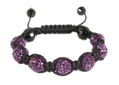 Purple Iced Out Shamballah Bracelet with 7 Iced Out and 4 Regular Glass Beaded Balls Macrame Shamballah JOTW. $14.95. 100% Satisfaction Guaranteed!. Great Quality Jewelry!