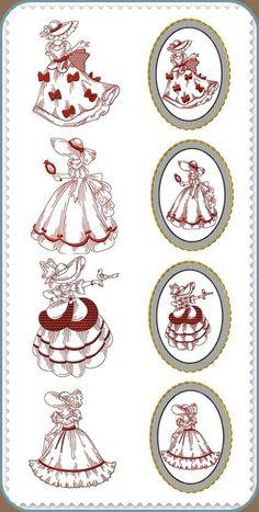 Crinoline Ladies Red