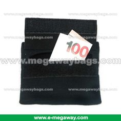 Cotton Elastic Wrist Band with Velcro Pocket to carry money & accessories