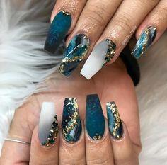 impressive matte coffin nail art designs you must try 6 Related Nail Art Designs, Marble Nail Designs, Nails Design, Coffin Nail Designs, Cute Acrylic Nail Designs, Ongles Bling Bling, Bling Nails, Summer Acrylic Nails, Best Acrylic Nails