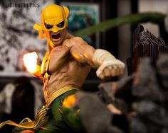 The Iron Fist (Daniel Rand) Amazing image! Comic Movies, Comic Book Characters, Comic Book Heroes, Comic Character, Comic Books Art, Marvel Comics, Marvel Fan, Marvel Heroes, Luke Cage