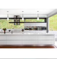 Kitchen Inspiration - window splash back LOVE BENCH TOP , WINDOW , ROW OVENS