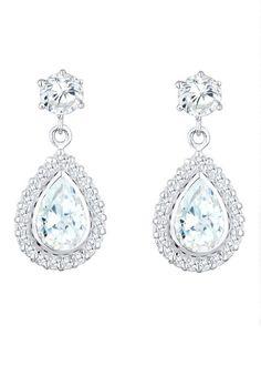 Brautschmuck ohrringe tropfen  Neoglory Jewellery Silber Ohrringe hängend Tropfen mit Zirkonia ...
