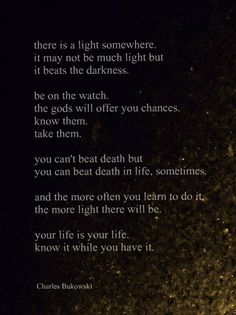 Excerpt from The Laughing Heart by -Charles Bukowski-