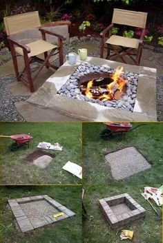 DIY Home Project: Outdoor Square Fire Pit