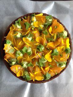 中標津町 フェネトレ 柑橘と枇杷、抹茶のタルト