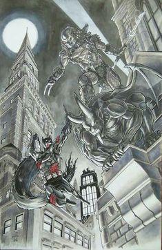 Batman VS Predator by Zehe Abd Rahman