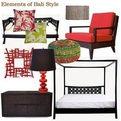 This week I'm posting about Bali or Indonesian style. After all, we live in a country that experiences plenty of sunshine for most of the year - why shouldn't we have a holiday at home. Bali or Indonesian furniture is probably the easiest style to copy for DIY. Here is some Bali and Indonesian inspiration for you... http://www.home-dzine.co.za/decor/visual-diary-bali.htm#