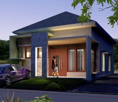 20 Best and Beautiful Dream Home Design Ideas Unique House Design, Minimalist House Design, Dream Home Design, Minimalist Home, Beautiful Dream, Beautiful Homes, Affordable Bedroom Sets, One Storey House, Modern Bungalow House