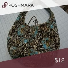 A pouch purse very nice for summer Brown and turquoise and beige from old navy Bags Hobos