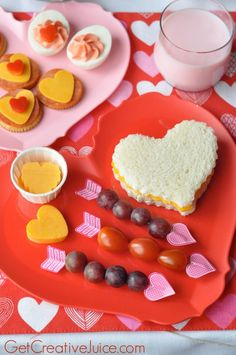 Valentine Lunch Ideas and Snacks!