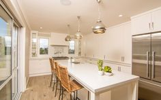 GJ Gardner Homes showhomes available to view now. See the great range of house designs we have available. Empty Spaces, Best Kitchen Designs, Kitchen Reno, Cool Kitchens, Indoor, House Design, Design Ideas, Homes, Home Decor