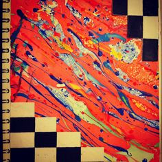 Sketchbook page- marbling and monochrome