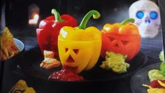 Halloween spooky peppers to put your dips in..