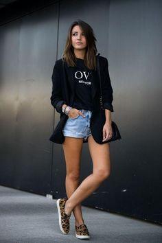 37 outfits con short para un verano con mucho estilo | Belleza