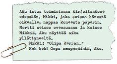 Ankallisakatemian sarjakuvakoulu (osa 8) - käsikirjoitus.