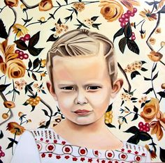 Love this, and it's given me a solution for a portrait painting I'm busy with at the moment! Christina Robinson's custom portraits are so striking. #EtsyCustom