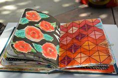 Mary Ann Moss patterns in visual journal